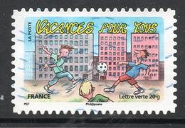 2015 VACANCES POR TOUS, Valeur Faciale: 0,68 € Timbre Usagee De FRANCE, Vacances à La Maison - France