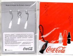 COCA-COLA Carte Postale & Nettoyant Multi-Ecran NEUF Sous Blister (NOIR) - Publicité