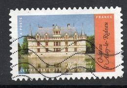 2015 Château D'Azay-le-Rideau, Valeur Faciale: 0,68 € Timbre Usagee De FRANCE, Architecture Renaissance - France