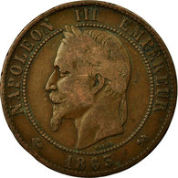 Monnaie, France, Napoleon III, Napoléon III, 10 Centimes, 1863, Bordeaux, TB - France