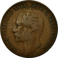 Monnaie, Suède, Oscar I, 5 Öre, 1858, TB+, Bronze, KM:690 - Suède