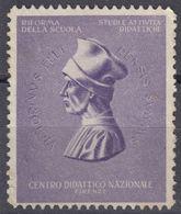 """ITALIA, Erinnofilo Non Gommato """"Centro Didattico Nazionale"""". - Italien"""