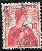 1909 10c Helvetia Statue, Used - Switzerland
