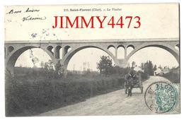 CPA - Le Viaduc, Route Bien Animée En 1905, Attelage - SAINT FLORENT 18 Cher - N° 218 - Edit. Illisible - Recto-Verso - Saint-Florent-sur-Cher