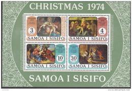 SAMOA, 1974 XMAS MINISHEET MNH - Samoa