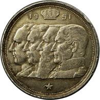 Monnaie, Belgique, 100 Francs, 100 Frank, 1951, TTB, Argent, KM:139.1 - 1945-1951: Régence