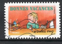 2015 BONNES VACANCES: Valeur Faciale 0,56 € Timbre Usagee De FRANCE, Devoir De Vacances - France