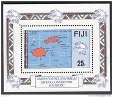 FIJI, 1984 UPU MINISHEET MNH - Fiji (1970-...)