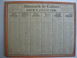 ALMANACH DE CABINET, Calendrier  1836 -SEMESTRIEL  RECTO-VERSEAU Allegorie Signe Du Zodiac  LAMBERT-GENTOT Libraire Lyon - Calendriers