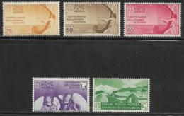 Italy, Scott # C79-83 MNH Airmail Set Bellini, 1935, CV$204.00 - 1900-44 Vittorio Emanuele III