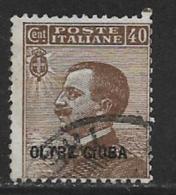 Oltre Giuba Scott # 9 Used Italy Stamp Overprinted, 1925 - Eritrea