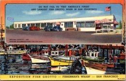 California San Francisco Fisherman's Wharf Exposition Fish Grotto Restaurant Curteich - San Francisco