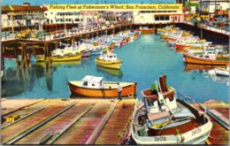 California San Francisco Fishing Fleet At Fisherman's Wharf 1956 - San Francisco