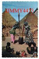 CPSM Dentelées - Scène Villageoise à Identifier - AFRIQUE - Edit. HOA - QUI N° 3243 - Scans Recto-Verso - Cartes Postales