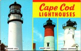 Massachusetts Cape Cod Lighthouses Highland Nauset & Nobska Lighthouses - Cape Cod