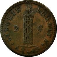 Monnaie, Haïti, 2 Centimes, 1846, TTB, Cuivre, KM:26 - Haïti