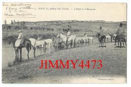 CPA - L' Oued Et L' Abreuvoir En 1914 - SOUK EL ARBA DE TISSA - MAROC - Coll. Garcia N° 5 - Scans Recto-Verso - Maroc