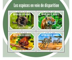 Djibouti 2018    Fauna  Endangered Species   Tiger  Zebra  S201901 - Djibouti (1977-...)