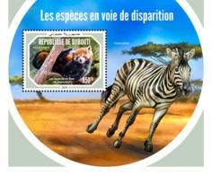 Djibouti 2018    Fauna  Endangered Species   Lesser Panda , Zebra  S201901 - Djibouti (1977-...)