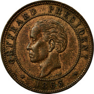 Monnaie, Haïti, 20 Centimes, 1863, TTB, Bronze, KM:41 - Haïti