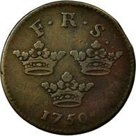 Monnaie, Suède, Frederick I, Ore, K.M., 1750, TTB, Cuivre, KM:383.1 - Suède