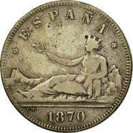 Monnaie, Espagne, Provisional Government, 2 Pesetas, 1870, Madrid, TB, Argent - [ 1] …-1931 : Royaume