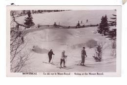 MONTREAL Ski Sur Le Mont Royal Ski Skiing - Montreal
