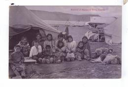 Eskimos Inuvialuit  MacKenzie River  District Canada Indiens Natives Camp Tents - Territoires Du Nord-Ouest