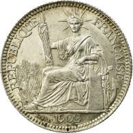 Monnaie, FRENCH INDO-CHINA, 10 Cents, 1902, Paris, SUP, Argent, KM:9 - Colonies