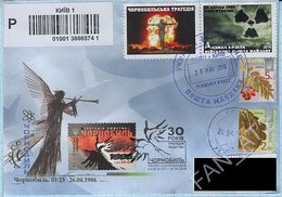 UKRAINE Maidan Post Chernobyl Chornobyl 30 Years Of A Nuclear Accident. FDC Circulated Registered Letter KYIV 26/04/2016 - Ukraine
