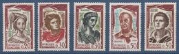 N° 1301 à 1305 Comédiens Français - France