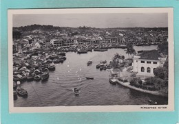 Old Small Post Card Of Singapore River,Q58. - Singapore