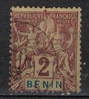 BENIN           N°  YVERT      34   OBLITERE       ( O   2/55 ) - Bénin (1892-1894)