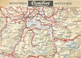 Publicité Montres (Watches) Cortébert - Carte Luzern Et Canton D'Uni - Carte Non Circulée - Pubblicitari