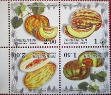 Tajikistan  2009  Melons  4 V   MNH - Tajikistan
