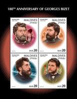 Maldives  2018    Georges Bizet  , French Composer Of The Romantic Era  S201901 - Maldives (1965-...)