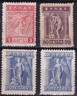 GREECE 1913-1927 Lithografic Issue 3 L - 25 L (2x) - 50 L Vl. 230 - 235 - 238 MH - Ongebruikt