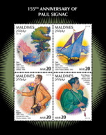 Maldives  2018  Paintings  Paul Signac   S201901 - Maldives (1965-...)