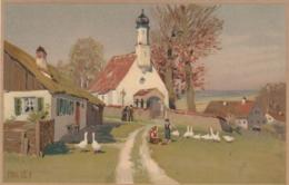 AK - Kunstkarte - Paul Hey - Die Kirche Beim Bauernhof - Hey, Paul