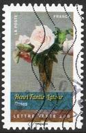 2015 Henri Fantin-Latour Roses Valeur Faciale : 0,61 € Timbre Usagee De France.. Bouquets De Fleurs - France