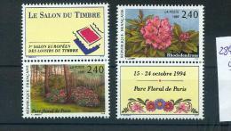 France 2849 2850 Du BF  15 Fleur 1/4 De Cote Salon Philatélique Parc Neuf ** TB MNH Sin Charnela Cote 12 - Unused Stamps
