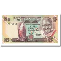 Billet, Zambie, 5 Kwacha, Undated (1986), KM:25d, NEUF - Zambie