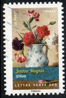 2015 Jeanne Magnin OEillets Valeur Faciale : 0,68€ Timbre Oblitéré De France..Bouquets De Fleurs - France