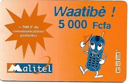 @+ Mali - Recharge Malitel - 5000 F - Date 23/07/2005 - Mali