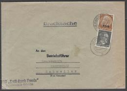 """Alsace-Lorraine N°8 (+Allemagne N°705) """"tarif Imprimés"""" Sur LSC De Gebweiler Du 5/11/1941 - Alsace-Lorraine"""