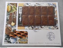 Premier Jour (FDC) Grand Format France 2009 : Le Chocolat (bloc Feuillet) - 2000-2009