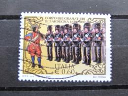 *ITALIA* USATI 2009 - 350° GRANATIERI DI SARDEGNA - SASSONE 3078 - LUSSO/FIOR DI STAMPA - 6. 1946-.. Repubblica