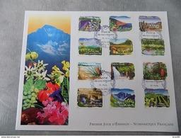 Premier Jour (FDC) Grand Format France 2009 : Flore De Nos Régions (série Complète) - 2000-2009