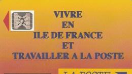 TELECARTE 50....VIVRE EN ILE DE FRANCE ET TRAVAILLER A LA POSTE ...... - France