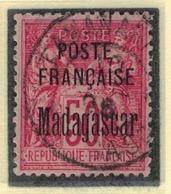 MADAGASCAR            N°  YVERT      19          OBLITERE       ( O   3/43  ) - Madagascar (1889-1960)